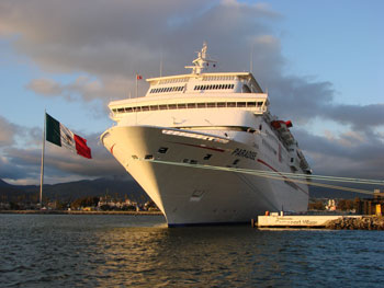 Cruise port in Ensenada